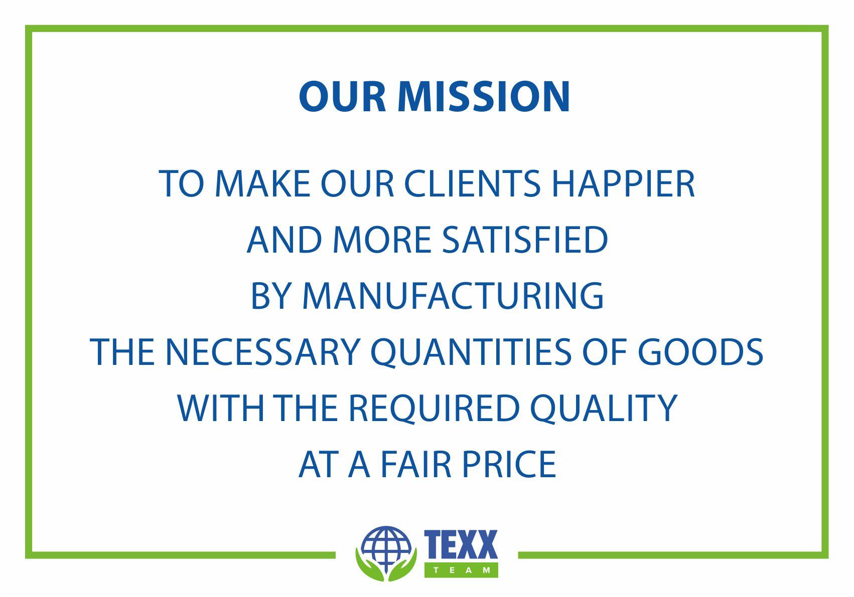Texx Team Mission